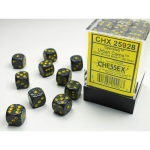 CHX25928 Urban Camo Speckled D6 Dice Yellow Pips 12mm Pack of 36