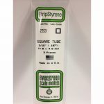 EVG253 Square Tubing .187in x 14in Opaque White by Evergreen