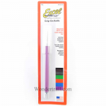 EXL16018 Grip on Soft Handle Knife with Safety Cap - Assorted Colors