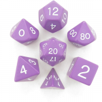 KOP06037 Purple Jumbo Dice White Numbers D6 24mm (15/16in) Set of 7