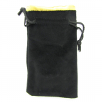 KOP09917 Black Velvet with Gold Lining Large Dice Bag Koplow Games