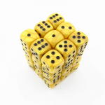 KOP11996 Gold Marbleized Dice with Black Pips D6 12mm (1/2in) Pack of 36