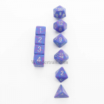 KOP13135 Silver Tetra Elemental Dice With Silver Numbers Set 10pc Dice