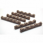PEG5207 Sandbag Walls Straight Pegasus Hobbies