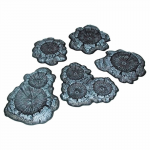 PEG5214 Crater Set Unpainted 5pc Terrain Pegasus Hobbies