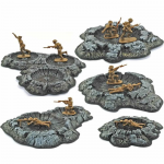 PEG5215 Crater Set Pre-Painted Miniature Terrain Pegasus Hobbies