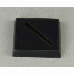 RPR74015 Plastic Base 1in Square with Universal Slot for Miniature Figures Pack of 20 Reaper Miniatures