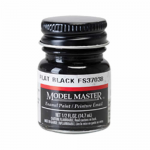 TES1749 Flat Black Enamel Paint .5 oz bottle FS 37038 by Testors