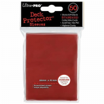 UPR82672 Red Standard Card Sleeves 50 Count Ultra Pro