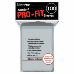 UPR82712 Pro-Fit Clear Card Sleeves 100 Count Ultra Pro