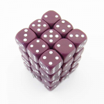 KOP17411 Purple Opaque Dice with White Pips D6 12mm (1/2in) Pack of 36 Koplow Games