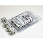 CHX25111 Arctic Speckled D10 Dice Black Numbers 16mm Pack of 10