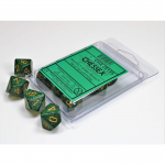CHX25135 Golden Recon Speckled Dice Gold Numbers D10 16mm Set of 10