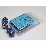 CHX25146 Stealth Speckled Dice White Numbers D10 16mm Set of 10