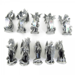 TU4400 Dragons of Light versus Dragons of Darkness Chess Set Tudor Mint