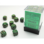 CHX25935 Golden Recon Speckled D6 Dice Gold Pips 12mm Pack of 36
