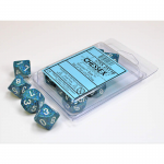 CHX25116 Sea Speckled D10 Dice White Numbers 16mm Pack of 10
