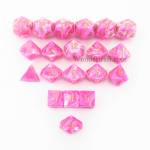 CHXLE866 Pink Vortex Dice with Gold Numbers 16mm (5/8in) Pack of 20