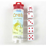 KOP13513 Crab Dice Game with 5 White Dice Koplow Games
