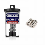 MACNSN0590 Rare Earth Ring Magnets .5od (12.7mm) x 0.125 Thick (3.175mm) x 0.15 (3.81mm) Countersunk Hole 12 Count Magcraft