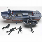 REV0313 U.D.T. Boat with Frogmen 1/35 Scale Plastic Model Kit