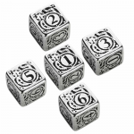 QWS56MST35 Metal Steampunk Dice D6 16mm (5/8in) Pack of 5
