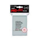 UPR82713 PRO-Fit Small Clear Card Sleeves 100 Count Ultra Pro