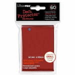 UPR82967 Red Small Card Sleeves 60 Count Ultra Pro