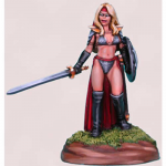 DSM1117 Chick In Chainmail No 4 Female Fighter Miniature
