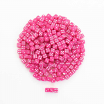 KOP00647 Pink Opaque Dice with White Pips D6 5mm (13/64in) Pack of 250