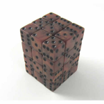 KOP12368 Bronze Olympic Dice with Black Pips D6 12mm (1/2in) Set of 36