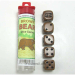 KOP12826 Brown Bear Dice Game Brown Opaque D6 16mm (5/8in)