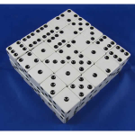 KOP02154 White Opaque Dice with Black Pips D6 25mm (1in) Bulk Pack of 50