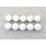 CHX29035 White Blank Dice with No Pips D12 16mm (5/8in) Pack of 10