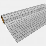 GGP0401 Gray Gaming Paper 1in Squares 30in x 12ft 1 Roll
