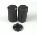 KOP13378 Black Mini Poker Chips 22mm (7/8in) Tube of 50 Koplow Games