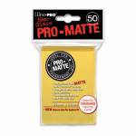 UPR84186 Yellow Pro-Matte Standard Card Sleeves 50 Count Ultra Pro