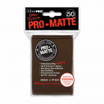 UPR84189 Brown Pro-Matte Standard Card Sleeves 50 Count Ultra Pro