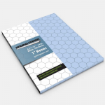 GGP1202 Blue Gaming Paper 1in Hex Singles (100 Sheets)
