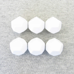 KOP01415 White Opaque Blank 12 Sided Dice(D12) 25mm (1in) Set of 6