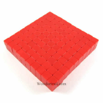 KOP01986 Red Blank Opaque Dice D6 16mm (5/8in) Bulk Pack of 200