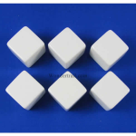 KOP02033 White Blank Opaque Dice D6 16mm (5/8in) Pack of 6