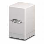 UPR84172 White Satin Tower Deck Box Ultra Pro