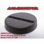 ARM02504 Round Slotted 20mm Bases Mega Pack (100)
