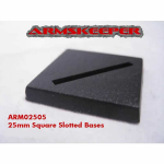 ARM02505 Square Slotted 25mm Bases (20) ArmsKeeper