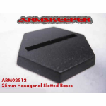 ARM02512 Hexagonal Slotted 25mm Miniature Bases Mega Pack (80)