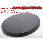 ARM02516 Round 40mm Multi Purpose Miniature Bases Mega Pack (25)