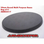 ARM02517 Round 50mm Multi Purpose Miniature Bases (4)