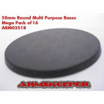 ARM02518 Round Multi Purpose 50mm Bases Mega Pack (16)