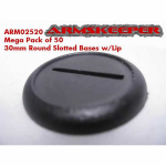 ARM02520 Round Slotted 30mm Bases w/Lip Mega Pack (50)